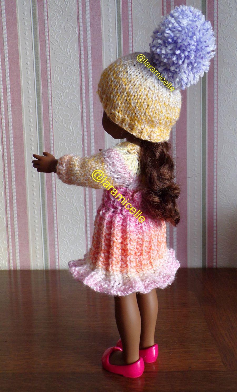 tuto gratuit  poupée  : bonnet  à gros  pompon