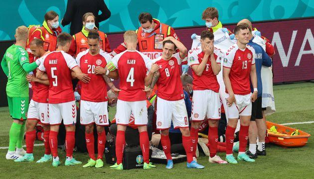 #FOOTBALL #Euro2020 : Christian #Eriksen victime d'un malaise cardiaque, #Danemark-Finlande interrompu