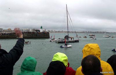 Le départ du Vendée Globe, journée humide...
