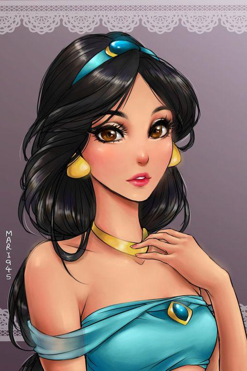 Les personnages de Disney en mode manga