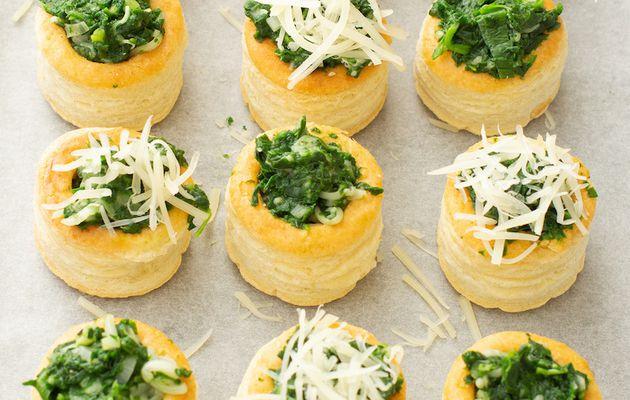 feuilletés aux épinards et fromage