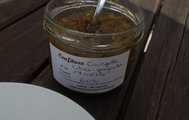 Confiture Courgette-Citron-Gingembre