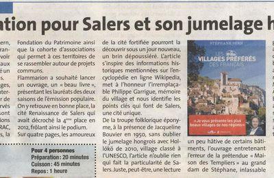 Salers in La Voix du Cantal !