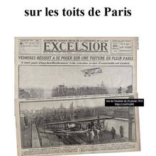Un as de l'aviation sur les toits de PARIS