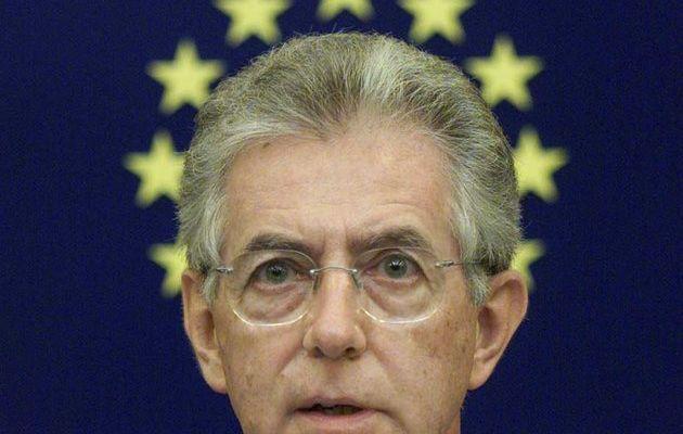 L' « union sacrée » en Italie, de la gauche du PD à la droite, du patronat aux syndicats, derrière le gouvernement technocratique du banquier et bureaucrate européen Mario Monti