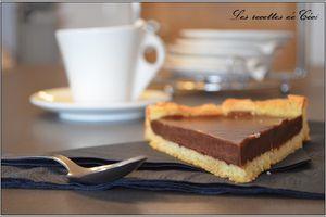 Tarte au chocolat à la ganache parfumée à la noisette