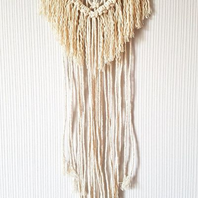 "Suspension Macramé ""Jeudi 8 Octobre 2020"""