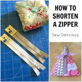 Sew Delicious: How To Shorten A Zipper - Tutorial