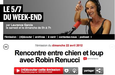 Robin Renucci sur France Inter