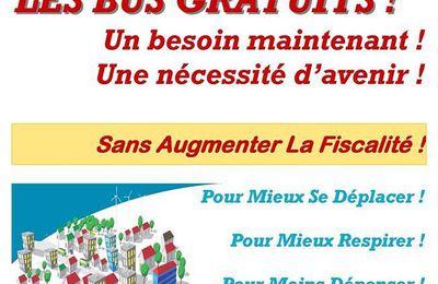 Le tract des élus communistes du bassin minier pour la gratuité du Bus à Haut Niveau de Service