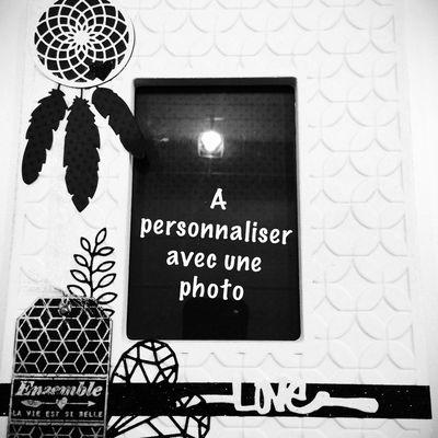 Cadre photo à personnaliser
