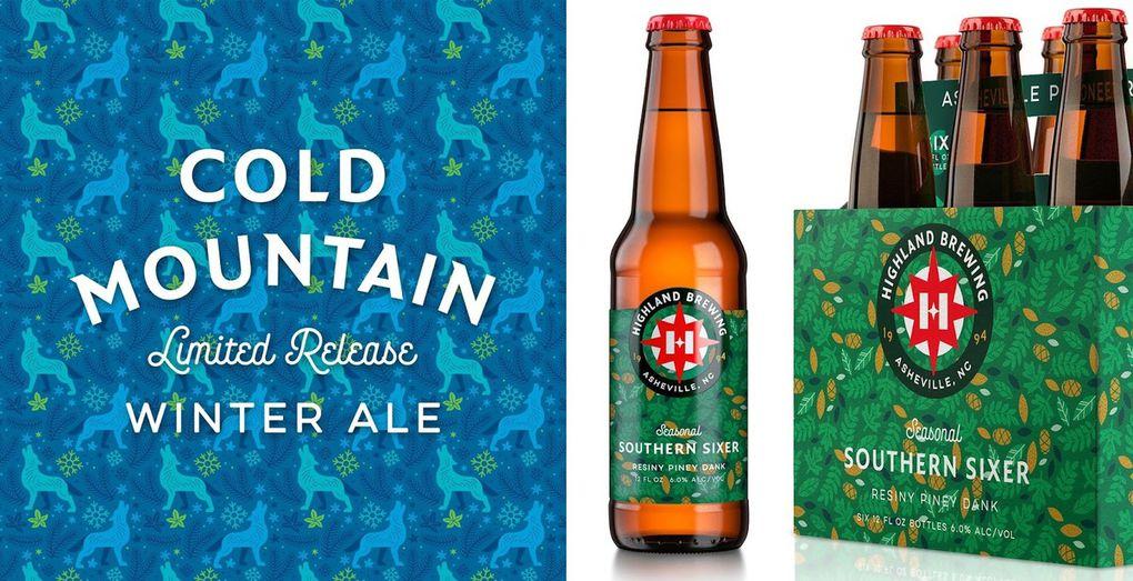 Packaging : Highland Brewing beer, couleurs vives et authenticité
