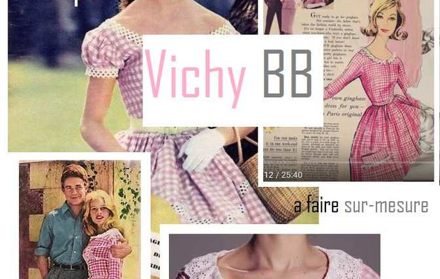 Vintage : Robes vichy BB, à faire Sur-mesure.