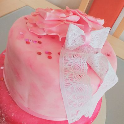 Pink cake - fruits rouge/vanille