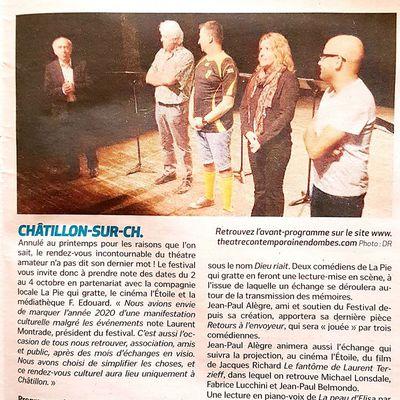 Interview croisée… Sarah Oling et Alain Bourbon. Mise en voix au Festival de Châtillon