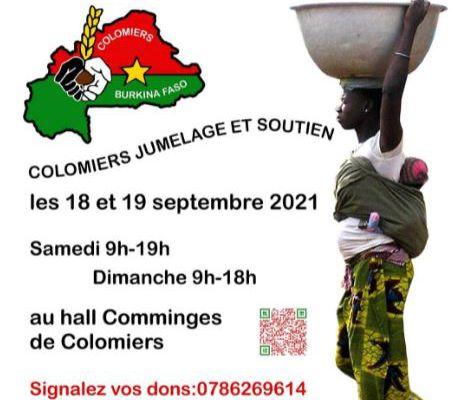 Préparation de la brocante CJS (Colomiers Jumelage et Soutien) qui aura lieu le 18 et 19 septembre 2021