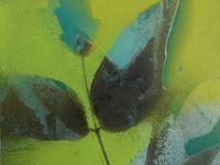 Série Azul, 2020. HUILE ET TECHNIQUE MIXTE SUR PAPIER MAROUFLÉ SUR BOIS 15x15 cm