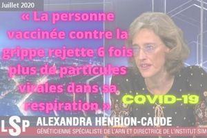 Dr Alexandra Henrion-Caude | Une personne vaccinée contre la grippe rejette 6 fois plus de particules virales dans sa respiration