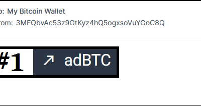 1st Bitcon's payment received from AdBtc