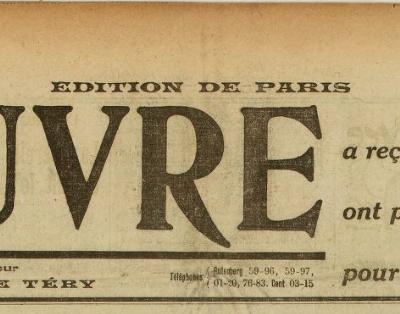 Affaire Seznec : Emmanuel Bourcier dans L'Oeuvre du 22 juillet 1923...
