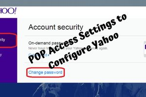 How to Use POP Access Settings to Configure Yahoo Mail?