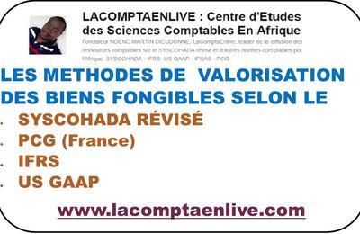 LA VALORISATION DES BIENS FONGIBLES SELON LE SYSCOHADA RÉVISÉ – PCG (France) -  IFRS - US GAAP