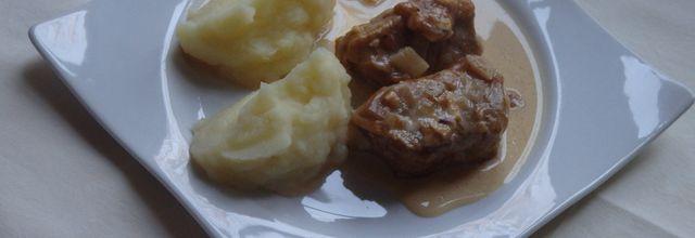 Filet mignon de porc sauce camembert et cidre
