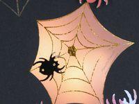 Carte - Halloween - Bougie - LED - Lumière - Toile - Araignée - Peur - Effayante - Foil - Scan N Cut - CM600