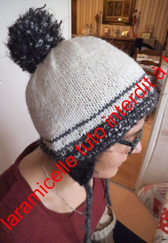 tuto  gratuit bonnet  à nattes pour femme