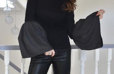 Manches cloche et Pantalon cuir