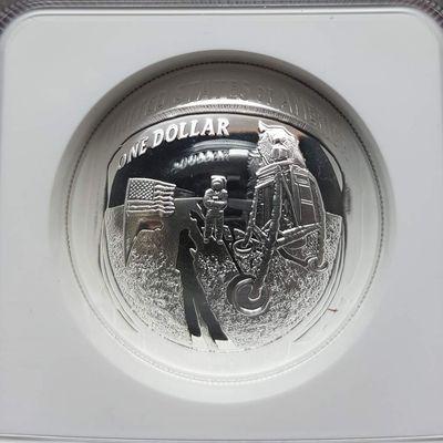 Apollo 11 50th Anniversary 2019 Proof Silver Dollar