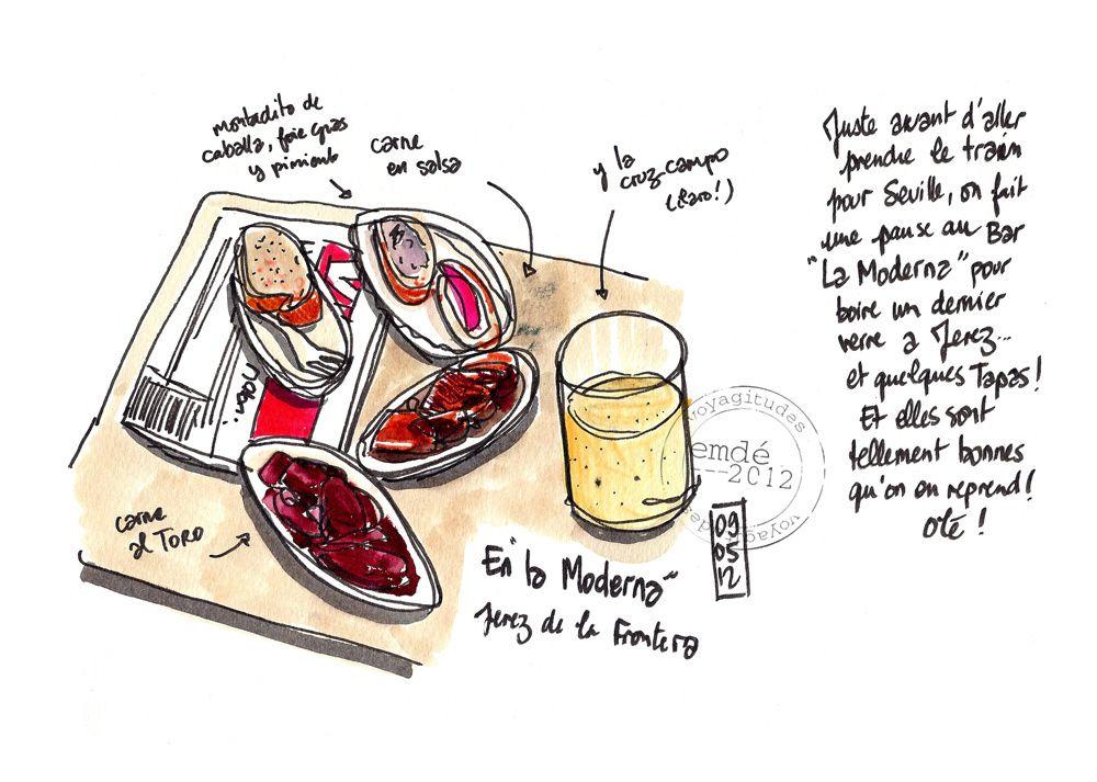Sevilla - Jerez / carnet de croquis