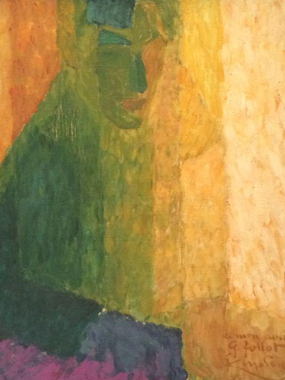 Fauvisme : Grand nu et Portrait de famille puis divisions en aplats : Etudes pour femmes cueillant des fleurs, Femme dans les triangles, Le miroir ovale, Madame Kupka dans les verticales, Portrait du musicien Follot, Amorpha