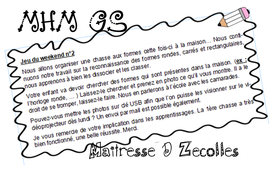 Chasse aux formes MS/GS