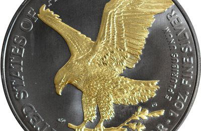 1 dollar Golden Enigma Silver Eagle Liberty Type 2 2021 United States of America
