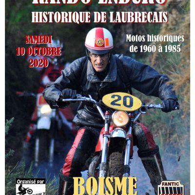 9 ème Rando Enduro Historique le samedi 10 octobre 2020 du MC de Laubreçais