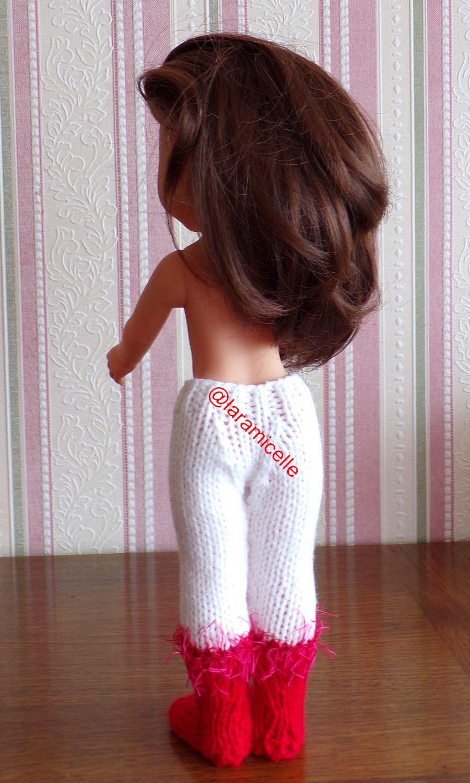 tuto gratuit poupée  : bottes de NOËL collants deux en un