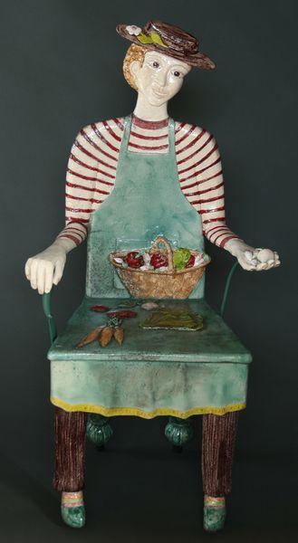 S'asseoir. Fauteuils et bancs en bas-relief céramique d'Agnès Coupey