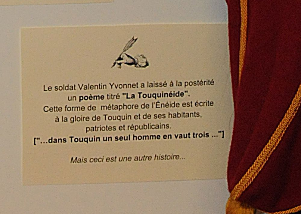 Village de Touquin, exposition du 24 janvier au 1er février 2015 à la Maison des Association : TOUQUIN 1814.