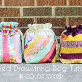 In Color Order: Striped Drawstring Bag Tutorial