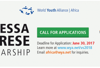 BOURSE :  World Youth Alliance (WYA) Afrique Vanessa Cherese Scholarship 2018 (Totalement financé à New York, États-Unis)