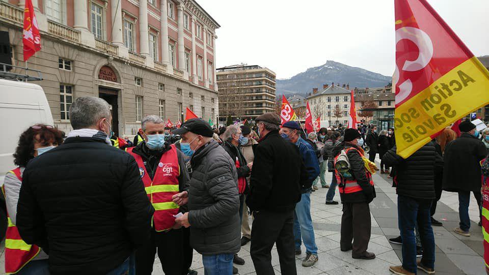 Grève et manifestation intersyndicale du 4 février 2021 à Chambéry