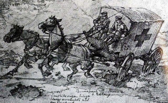 Ambulances allemandes lors de la guerre 1914-1918