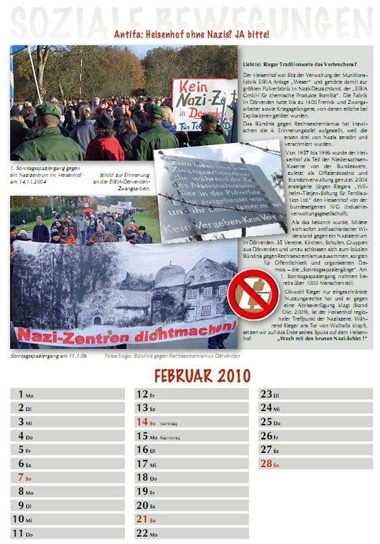 Den Kalender Soziale Bewegungen kann man bestellen: Preis 10,00 €  bei: culture.courage@yahoo.com oder zug_der_erinnerung@yahoo.de