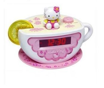 Radio-réveil tasse a café Hello Kitty