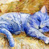 Des chats s'installent dans les tableaux les plus célèbres de Van Gogh, Gustav Klimt ou Picasso