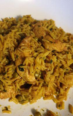 Galinhada (plat de riz et poulet brésilien)