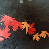 Le vent d'automne, composition et collage réalisé par des enfants de petite section de maternelle - Le blog de fannyassmat, le quotidien d'une assistante maternelle en mille et une anecdotes