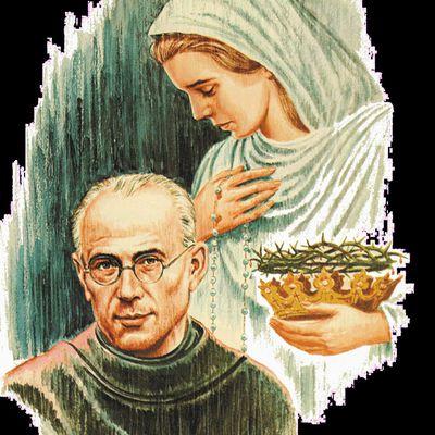 Vie & et coloriages de saint Maximilien Kolbe