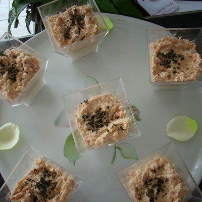 Mousse de Saumon sur riz au citron
